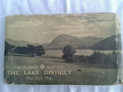 THE LAKE DISTRICT. Ordnance Survey One Inch Tourist Map. Cloth. 1948