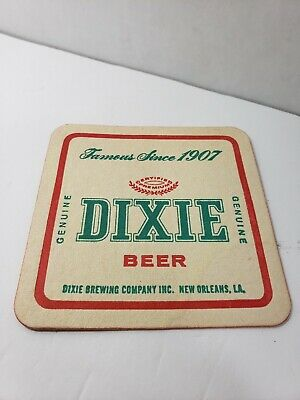 Dixie Beer ~ Vintage Coaster ~ New Orleans Brewery ~ Brew Advertising Sign Bar
