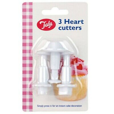 Tala 3-Piece Heart Cutter For Icing Sugarpaste Cake Decoration