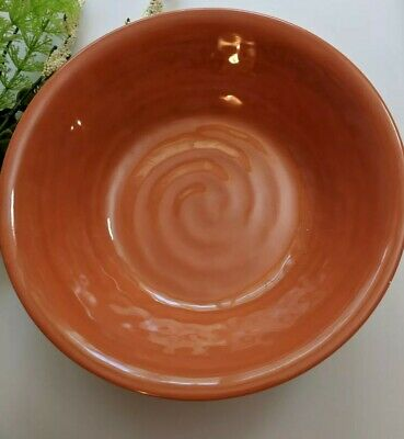 Tommy Bahama BOWLS 100% Melamine Swirl Cereal  ORANGE TERRA-COTTA OUTDOOR NEW!