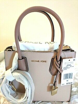 a175bf63c14c NEW MICHAEL KORS Mercer Pebble Leather Accordion Crossbody Medium-Soft Pink  $278