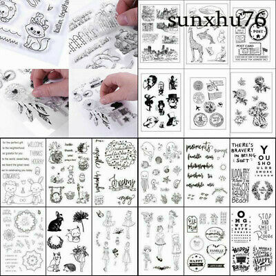 Transparent Silicone Rubber Stamp Cling Diary Scrapbooking Card DIY Decors