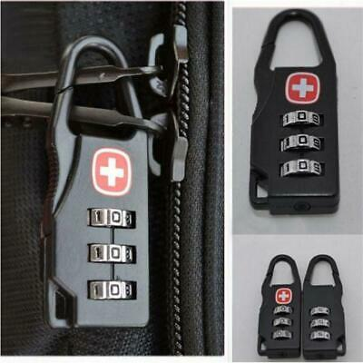 1pc Mini 3 Digits Combination Suitcase Luggage Metal Code Password Lock Padlock