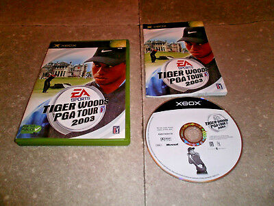 Tiger Woods PGA Tour Microsoft XBOX Complete CIB TESTED Fast Shipping Worldwide!