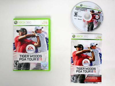 Tiger Woods PGA Tour 11 Xbox 360 Microsoft Complete CIB TESTED Fast Shipping!!!