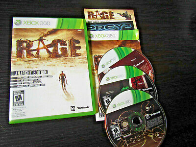 Rage Anarchy Edition Microsoft Xbox 360 Complete CIB TESTED Fast Shipping World!