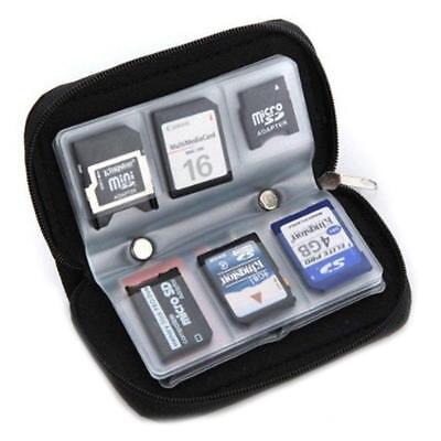 SDHC MMC CF Micro SD Carrying Pouch Case Holder Gut Memory Card Storage Wallet