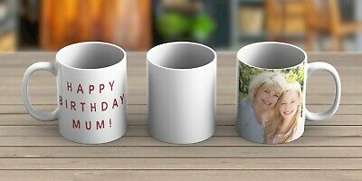 Custom Printed Personalised Photo Ceramic Cup Mug 11oz - FREEPOST - UK Seller