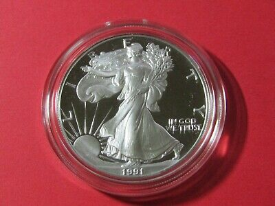 1991-S American Silver Eagle Proof #3 - OGP and COA