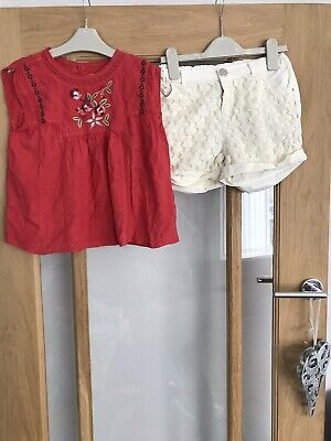 Pretty Next & River Island  Girls Summer Outfit 9-10 Years - Shorts & Top