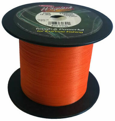 Berkley Whiplash BulkSpool Dyneema LoVis Green BRAID 35lb 0.12mm 2000 m 2200 Yds