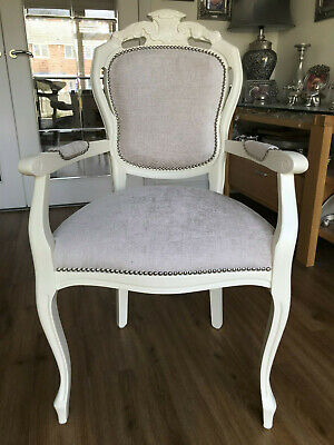 A French Style shabby chic Boudoir Statement display ocassional carver Chair