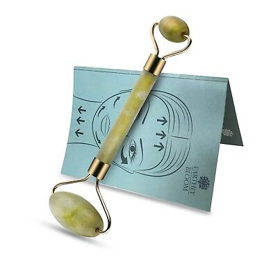 Earthly Bloom 100% Natural Green Jade Facial Roller Welded Reduces Swelling
