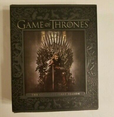 Game of Thrones: The Complete First Season (Blu-ray Disc, 2015, 5-Disc Set)