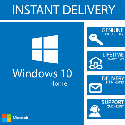 Instant Windows 10 Home Key 32 / 64 Bit Activation Code License