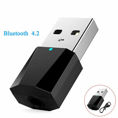 USB Bluetooth 4.2 Wireless Audio Music Stereo Adapter Dongle Receiver For TV-PC-