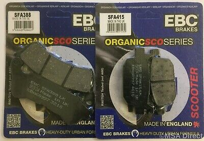 Honda FES125 S-Wing (2007 to 2015) EBC Organic FRONT and Rear Disc Brake Pads