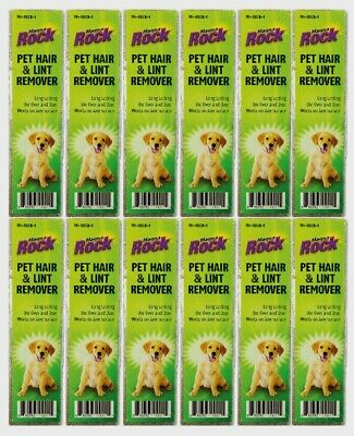 Pet Hair and Lint Remover Remover Rock - 12 Pack