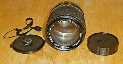 Vintage Yashica YUS 135mm F2.8 Lens w/ Caps Y/C Mount for Contax Yashica Camera