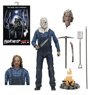"""NECA Friday the 13th Part 2 Jason Voorhees Ultimate 7"""" Action Figure 1:12 Scale"""