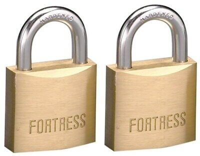 Fortress 1840T 1-9/16  #1840 Solid Brass Padlock 2 Count