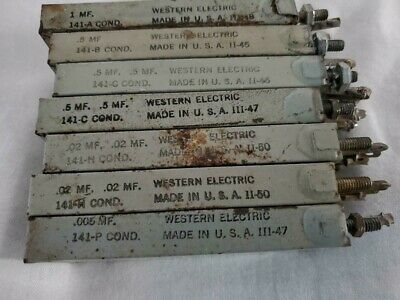 Western Electric Oil Condenser Early Silver Capacitors