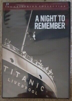 A Night to Remember (Titanic) [DVD 1998] Criterion Collection Roy Ward Baker NEW