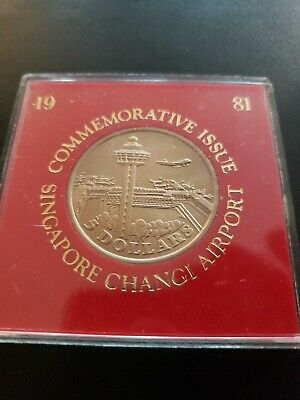 Singapore 1981 5 Dollars, Commem for New Changi Airport