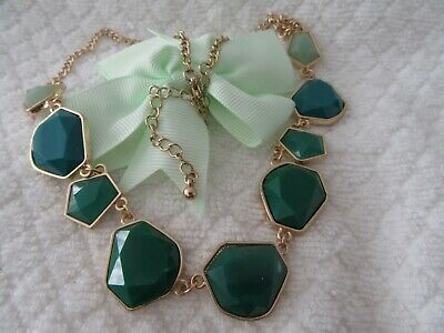 Stunning  Vintage  Green Tones ,Statement Style Necklace, So Pretty !