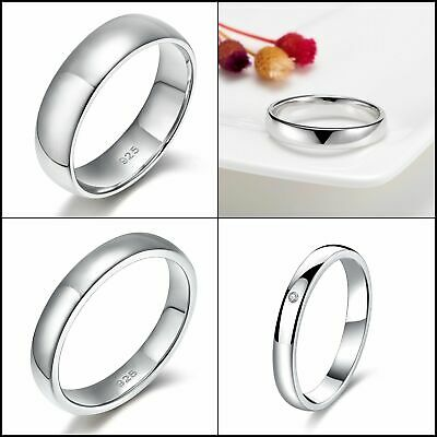 1e6f9d0b66150 5MM PLAIN DOME Wedding Band in Plain Solid 925 Sterling Silver ...