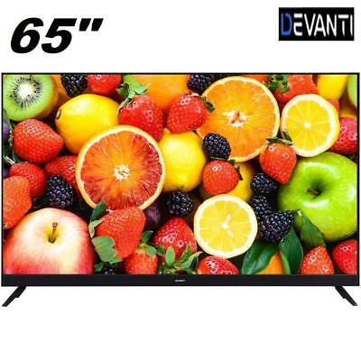 "DEVANTI 65"" Inch Smart TV 4K UHD HDR LED LCD Slim Thin LG Screen Netflix"
