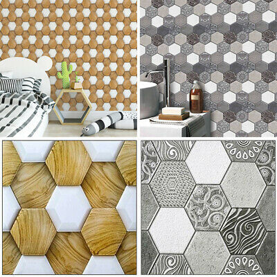 Household Hexagon wall sticker DIY 3D PVC Background Decoration Self adhesive