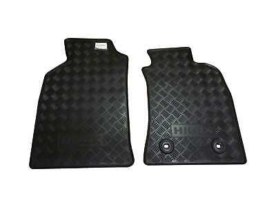 Front Rubber Floor Mats suitable for Hilux 2011-15 Genuine Accessory