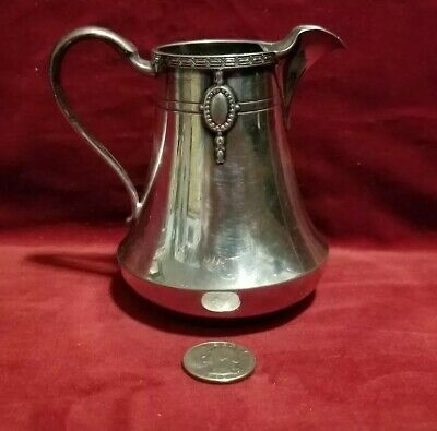 """Vtg. Wallace Bros.Silver & Co. Silver Plate Creamer V8622 Stamped 4"""" H 4""""W"""