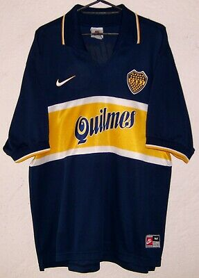 on sale 79752 60bc4 CABJ BOCA JUNIORS Nike Diego Armando Maradona 1997 Home Soccer Jersey Very  Rare