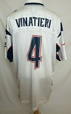 the latest ad1a6 92000 ADAM VINATIERI #4 New England Patriots Jersey Adult Size ...