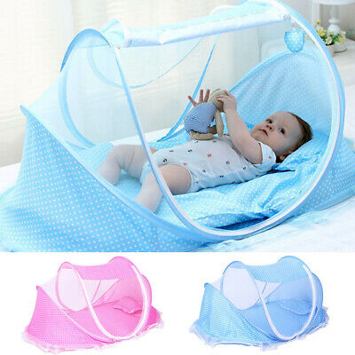 Foldable Baby Mosquito Net Canopy Bed Travel Cot Tent Crib Pillow New AU N3V5E