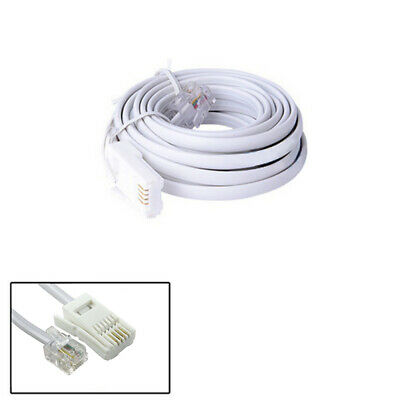 High Speed 10FT 3 m RJ11 6P4C British Telephone Phone ADSL Modem Line Cabl HV