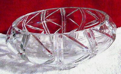 "Crystal Fruit Centerpiece Made in Poland Large Handcut 13"" Diameter"