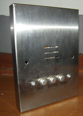 Alpha Comm IS407S Surface Stainless Steel 4 Wire Apt Intercom Station