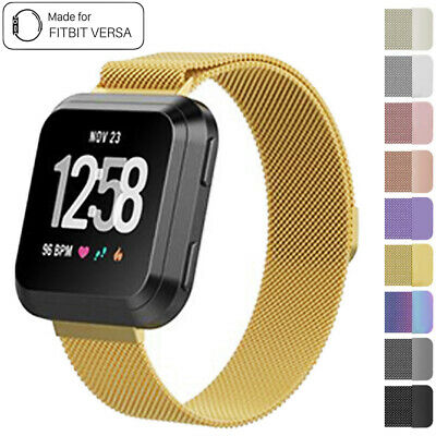 For Fitbit Versa Milanese Watch Band Strap Wrist Magnetic Stainless Steel S/L