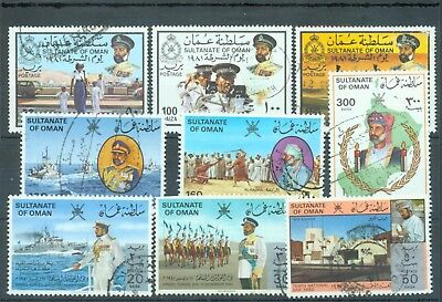 Oman 1981 nine different, postally used