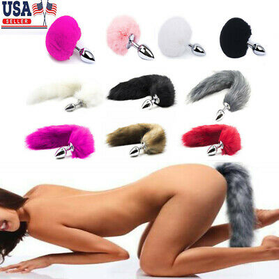 63128218fcc Funny Beginner Fox Rabbit Faux Tail Plug Butt Stopper Anal Slicone Adult Toy
