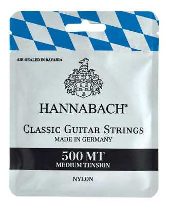 Hannabach 500 Mt Nylon Medium Tension Set Corde Per Chitarra Classica