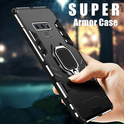 For Samsung S10 S10+ S9 S8 A8 Metal Finger Ring Holder Armor Hard Case TPU Cover