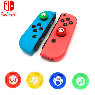 For Nintendo Switch Controller Joy-con 4PC Mario Grips Thumb Stick Cover Cap NEW