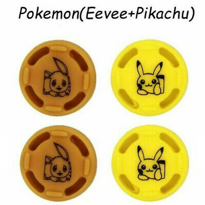 4pc Pikachu AntiSkid Thumb Stick Grips Cap For Nintendo Switch Controller Joycon
