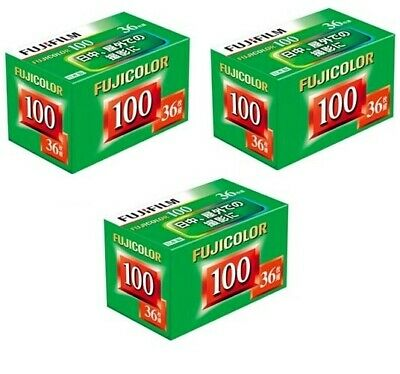 FUJI Fujifilm Fujicolor ISO 100 36exp 35mm Color Negative Print Film 3 Rolls US