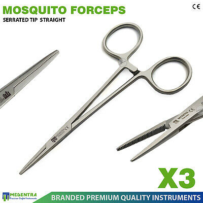 3Pc Hemostat Mini Mosquito Forceps for Placing Elastic Band Ligatures Dissecting