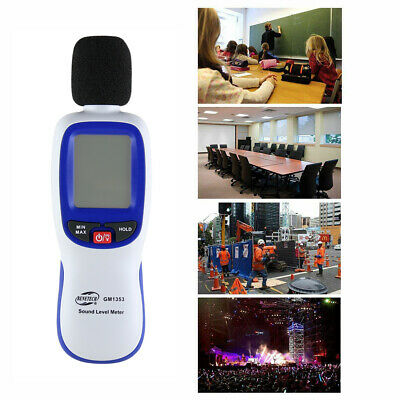 Mini GM1353 LCD  Digital Sound Level Noise Meter Decibel Pressure with backlight